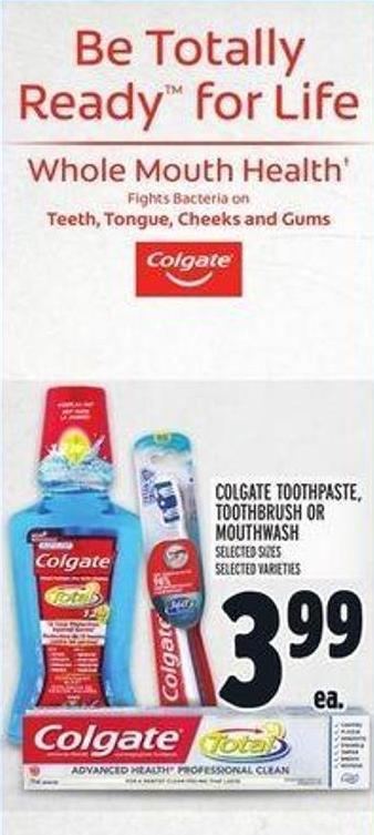 Colgate Toothpaste - Toothbrush Or Mouthwash