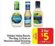 Hidden Valley Ranch - The Keg - Le Grec or Newman Salad Dressing