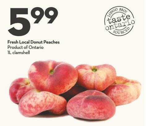 Fresh Local Donut Peaches Product of Ontario