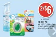 Febreze Air Effects - Car or Small Spaces Air Fresheners
