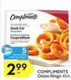 Compliments Onion Rings - 5 Air Miles Bonus Miles