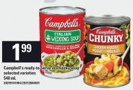 Campbell's Ready-to-serve Or Chunky Soup - 540 mL