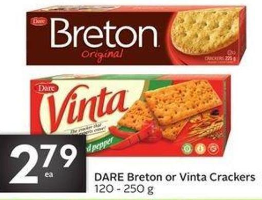 Drinks Dare Breton or Vinta Crackers
