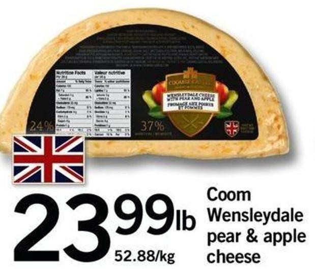 Coom Wensleydale Pear & Apple Cheese