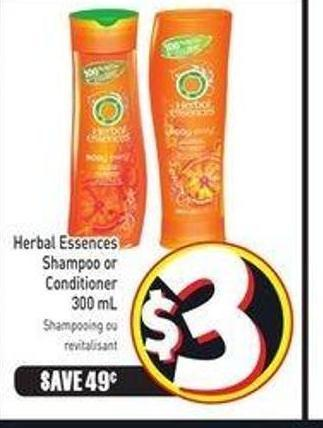 Herbal Essences Shampoo or Conditioner 300 mL