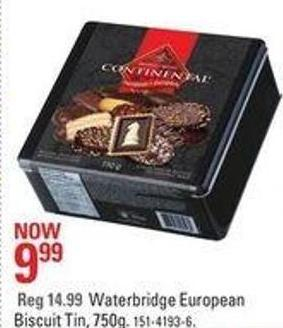 Waterbridge European Biscuit Tin - 750g