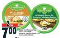 Summer Fresh Hummus Or Dips 200 - 227 g