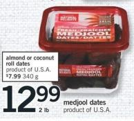 Almond or Coconut Roll Dates 340 g