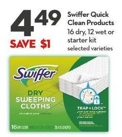 Swiffer Quick Clean Products 16 Dry - 12 Wet or  Starter Kit
