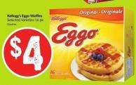 Kellogg's Eggo Waffles Selected Varieties 16 Pk