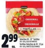 Selection 10 - 12in Tortillas 450 - 630 g