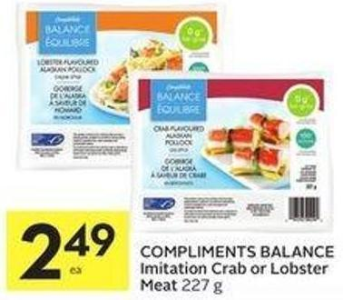 Compliments Balance Imitation Crab or Lobster Meat 227 g
