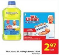 Mr. Clean 1.3 L or Magic Eraser 2-pack