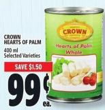 Crown Hearts Of Palm - 400 Ml