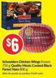 Schneiders Chicken Wings Frozen 750 g Quality Meats Cooked Black Forest Ham 800 g