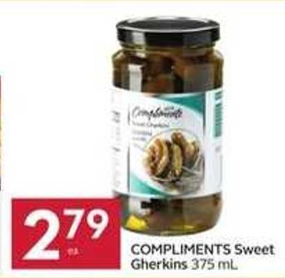 Compliments Sweet Gherkins