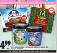 Ben & Jerry's Ice Cream - Frozen Dessert - Klondike Or Magnum Bars