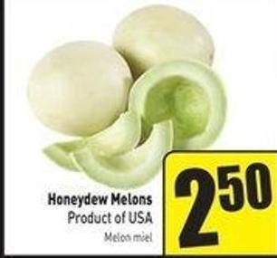 Honeydew Melons Product of USA