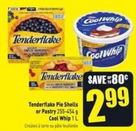 Tenderflake Pie Shells or Pastry 255-454 g Cool Whip 1 L