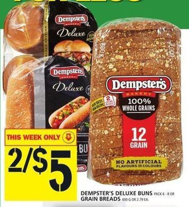 Dempster's Deluxe Buns Or Grain Breads