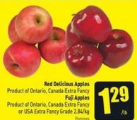 Red Delicious Apples Product of Ontario - Canada Extra Fancy Fuji - Apples Product of Ontario - Canada Extra Fancy or USA Extra Fancy Grade 2.84/kg