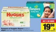 Pampers Or Huggies Diapers - 42-124's Or Wipes - 1008-1152's