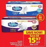 Royale Original or Velour Bathroom Tissue