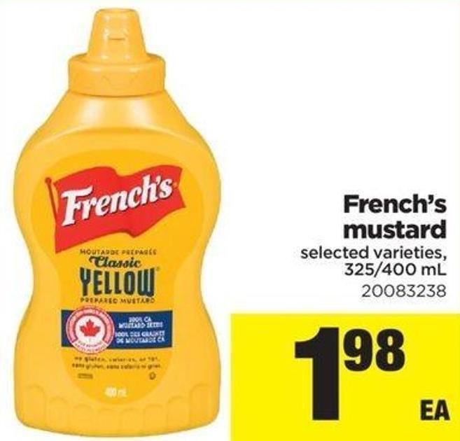 French's Mustard. 325/400 mL