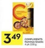 Compliments Hummus Snacks