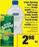 Irish Spring Bar Soap - 6x90 G - Body Wash - 532 Ml - Softsoap Body Wash - 591 Ml - Liquid Hand Soap - 258-384 Ml Or Refills - 828 Ml