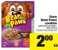 Dare Bear Paws Cookies - 150-270 g