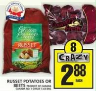 Russet Potatoes Or Beets