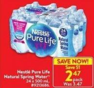 Natural Pure Life Natural Spring Water 24 X 500 ml