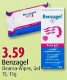 Benzagel Cleansa-wipes - Gel 15 - 15g