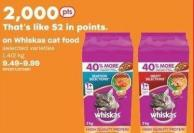 Whiskas Cat Food 1.4/2 Kg