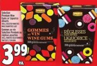 Selection Premium Wine Gums Or Liquorice Allsorts 350 g