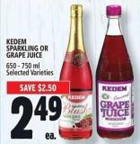 Kedem Sparkling Or Grape Juice