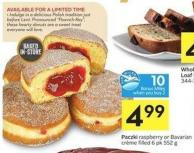 Paczki Raspberry or Bavarian Crème Filled 6 Pk 552 g - 10 Air Miles Bonus Miles