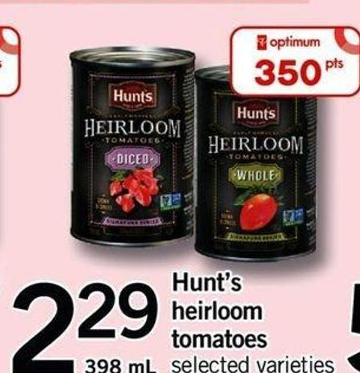 Hunt's Heirloom Tomatoes - 398 Ml