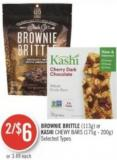 Brownie Brittle (113g) or Kashi Chewy Bars (175g - 200g)