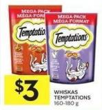 Whiskas Temptations 160-180 g
