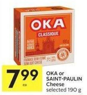 Oka or Saint-paulin Cheese Selected 190 g