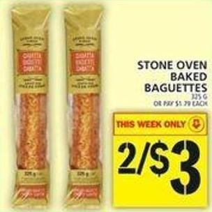 Stone Oven Baked Baguettes