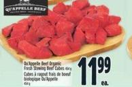 Qu'appelle Beef Organic Fresh Stewing Beef Cubes