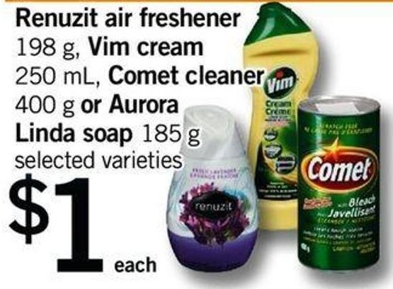 Renuzit Air Freshener - 198 G Vim Cream - 250 Ml Comet Cleaner - 400 G Or Aurora Linda Soap - 185 G