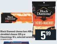 Black Diamond Cheese Bars 400 G - Shredded Cheese 320 G Or Cheestrings 16's