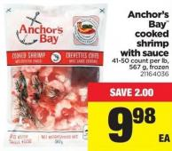 Anchor's Bay Cooked Shrimp With Sauce - 567 g