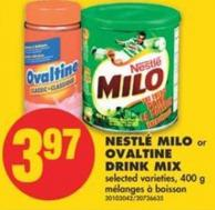 Nestlé Milo or Ovaltine Drink Mix - 400 g