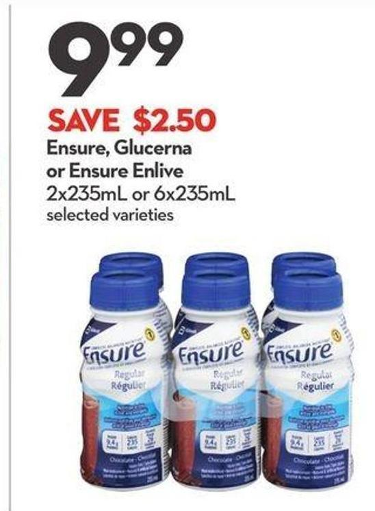 Ensure - Glucerna or Ensure Enlive