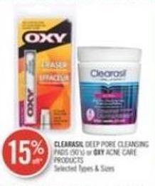 Clearasil  Deep Pore Cleansing Pads (90's) or Oxy Acne Care Products